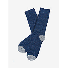 Buy Barbour Houghton Wool Silk Blend Socks, Navy Online at johnlewis.com