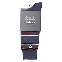 Buy Barbour Hexham Stripe Socks, Navy Online at johnlewis.com