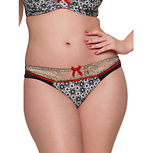 Buy Curvy Kate Illusion Midi Briefs, Cranberry / Black Online at johnlewis.com