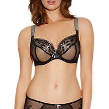 Buy Freya Vixen Plunge Balcony Bra, Black Online at johnlewis.com