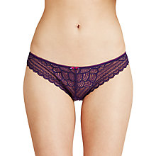 Buy Chantelle Merci Tanga Briefs, Purple Parade Online at johnlewis.com