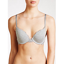 Buy DKNY Downton Cotton Push Up Bra, Heather Grey Online at johnlewis.com
