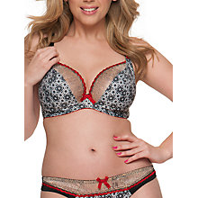Buy Curvy Kate Illusion Plunge Bra, Cranberry / Black Online at johnlewis.com