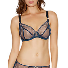 Buy Freya Siren Underwired Plunge Bra, French Navy Online at johnlewis.com