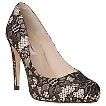 Buy L.K. Bennett Harley Lace Court Shoes, Black Online at johnlewis.com