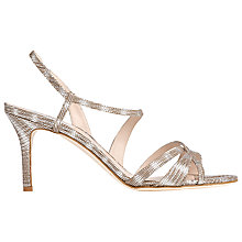 Buy L.K. Bennett Lourdes Slim Strap Stiletto Heeled Sandals, Silver Leather Online at johnlewis.com