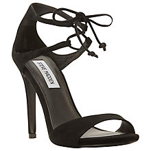 Buy Steve Madden Semona Suede Lace Up High Heel Sandals, Black Online at johnlewis.com