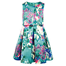 Buy John Lewis Heirloom Collection Girls' Floral Prom Dress, Blue Online at johnlewis.com