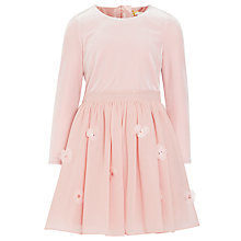 Buy John Lewis Heirloom Collection Girls' Velour Bodice Dress, Pale Pink Online at johnlewis.com