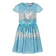 Buy John Lewis Heirloom Collection Girls' Sequin Waist Dress, Blue Online at johnlewis.com