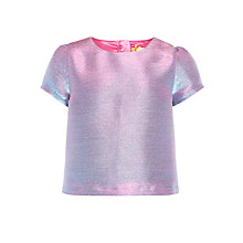 Buy John Lewis Heirloom Collection Girls' Sparkle Top, Blue Online at johnlewis.com