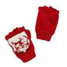 Buy John Lewis Christmas Fair Isle Flip Top Gloves, Red/White Online at johnlewis.com