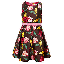 Buy John Lewis Heirloom Collection Girls' Tulip Print Prom Dress, Brown Online at johnlewis.com