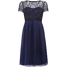 Buy Séraphine Silk Genevieve Maternity Dress, Navy/Black Online at johnlewis.com