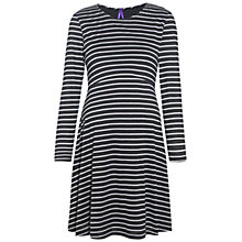 Buy Séraphine Nellie Stripe Maternity Dress, Black/White Online at johnlewis.com