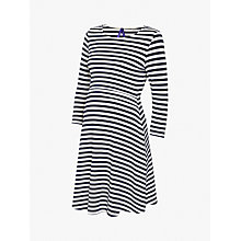 Buy Séraphine Nadia Nautical Stripe Nursing Maternity Dress, Navy/White Online at johnlewis.com