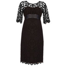 Buy Séraphine Ingrid Lace Maternity Dress, Black Online at johnlewis.com