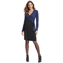Buy Séraphine Maternity Nursing Elsa Dress, Navy/Black Online at johnlewis.com