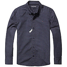 Buy Tommy Hilfiger Boys' Koby Print Long Sleeve Shirt, Navy Online at johnlewis.com