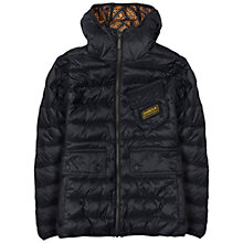 Buy Barbour Boys' International Burnout Quilted Jacket, Black Online at johnlewis.com