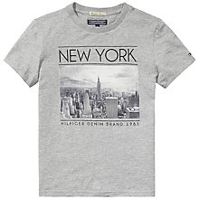 Buy Tommy Hilfiger Boy's New York Photo T-Shirt, Grey Online at johnlewis.com