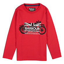 Buy Barbour Boys' International Lawson Long Sleeve T-Shirt, Red Online at johnlewis.com