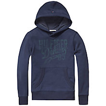Buy Tommy Hilfiger Boys' Logo Print Hoodie, Navy Online at johnlewis.com