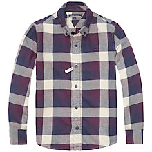 Buy Tommy Hilfiger Boy's High Large Check Shirt, Black Iris Online at johnlewis.com