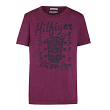 Buy Tommy Hilfiger Boy's Break Guitar T-Shirt, Purple Online at johnlewis.com
