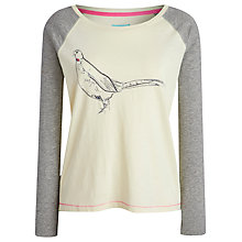 Buy Joules Susie Peacock Jersey Top, Ivory / Grey Online at johnlewis.com