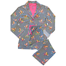 Buy Pj Salvage Fox Flannel Pyjama Set, Grey Online at johnlewis.com