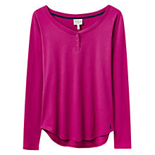 Buy Joules Mia Long Sleeve Jersey Top, Pink Online at johnlewis.com