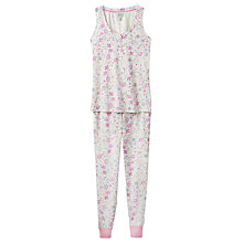 Buy Joules Evie Floral Print Pyjama Set, Pink Multi Online at johnlewis.com