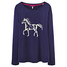 Buy Joules Hedgeford Horse Top, Navy Online at johnlewis.com