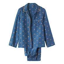 Buy Toast Star Print Pyjama Set, Navy/Gold Online at johnlewis.com