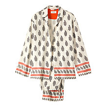 Buy Toast Paisley Border Pyjama Set, Ivory Online at johnlewis.com