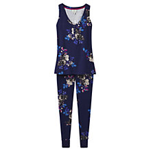 Buy Joules Evie Floral Print Pyjama Set, Navy Online at johnlewis.com
