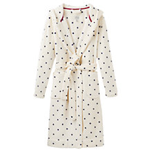 Buy Joules Rita Spot Robe, Cream/Navy Online at johnlewis.com
