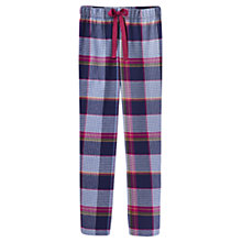 Buy Joules Fleur Check Print Pyjama Pants, Navy Online at johnlewis.com