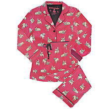 Buy Pj Salvage French Bulldog Pyjama Set, Red Online at johnlewis.com