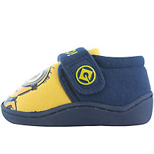 Buy John Lewis Minion Rip Tape Closed Back Slippers, Yellow/Blue Online at johnlewis.com