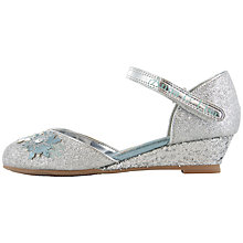 Buy Disney Frozen Anna & Elsa Glitter Wedge Shoes, Silver Online at johnlewis.com