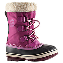 Buy Sorel Yoot Pac Nylon Snow Boots, Berry Online at johnlewis.com