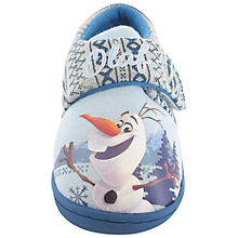 Buy Disney Frozen Olaf Rip-Tape Slippers, Blue/Grey Online at johnlewis.com