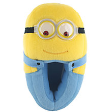 Buy John Lewis Minion 3D Slippers, Yellow/Blue Online at johnlewis.com