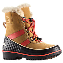 Buy Sorel Youth Tivoli II Suede Fleece Snow Boots Online at johnlewis.com