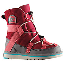 Buy Sorel Campus Shortie Youth Snow Boots, Red/Grey Online at johnlewis.com