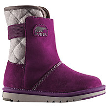 Buy Sorel Youth Newbie Suede Fleece Snow Boots Online at johnlewis.com