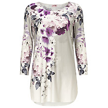 Buy Phase Eight Lucet Floral Blouse, Grey/Purple Online at johnlewis.com