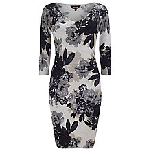 Buy Phase Eight Horley Rose Print Dress, Grey/Multi Online at johnlewis.com